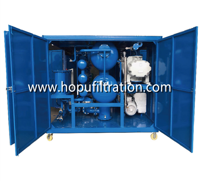 Double Stage Vacuum Transformer Oil Purifier, Oil Purification Machine for Power Station,with cover enclosure