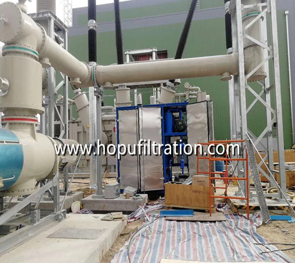 Vacuum Transformer Oil Filtration Plant with upward enclosure cabinet in Malaysia