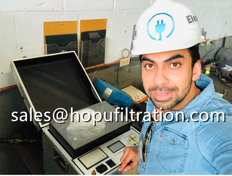 Transformer Oil BDV tester working in customers' factory