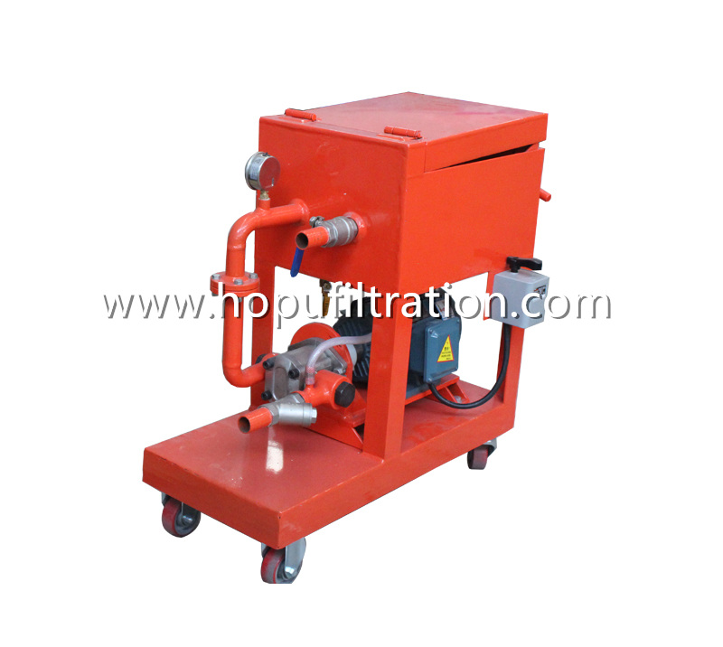 Portable Plate Frame Oil Purifier, Small Press Oil Filtration Machine