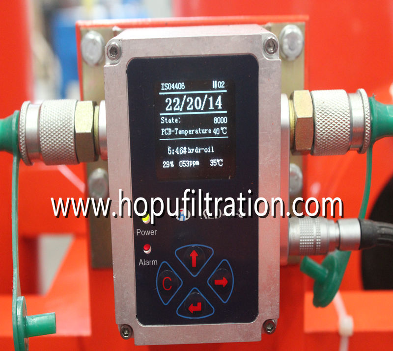 Lubricant Oil Purification Plant with Online Particle Counter and Moisture Tester