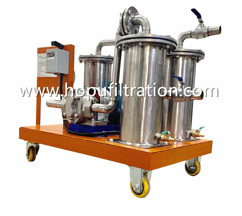 Stainless Steel Mini Oil Filtration Unit, Oil Filtering and Filling Device
