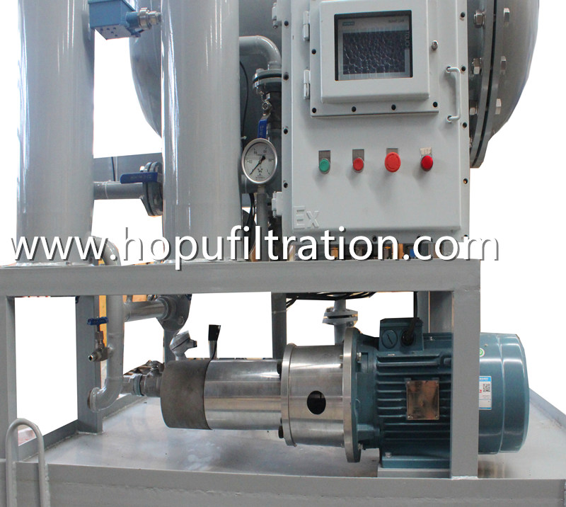 Explosion Proof Diesel Oil Dehydration Unit, Gasoline Fuel Oil Water Separator and filter machine