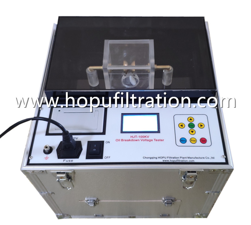 IEC156 Transformer Oil Breakdown Voltage Tester, 100KV Insulation Oil Meter