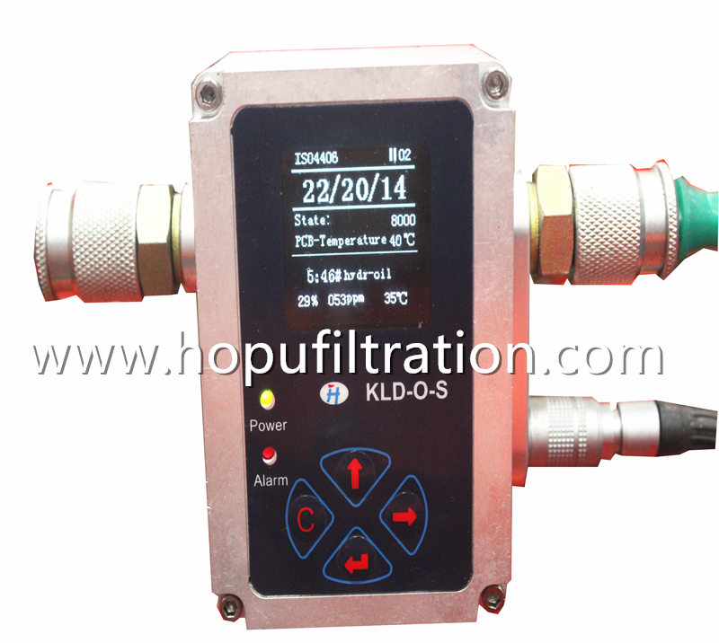 Online Oil Particle Counter, Lube Oil NAS/ISO Tester