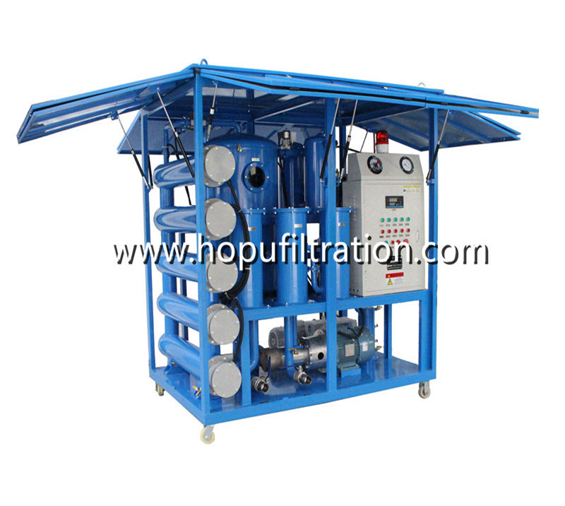 Pneumatic Support Enclosure Transformer Oil Filtration Unit