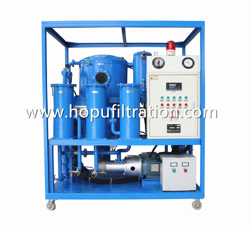 Advanced Type Double Stage Vacuum Transformer Oil Purifier with frame and hooks