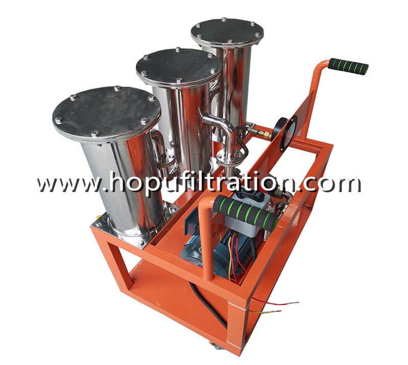 Stainless Steel Hand-held Oil Filtering Cart