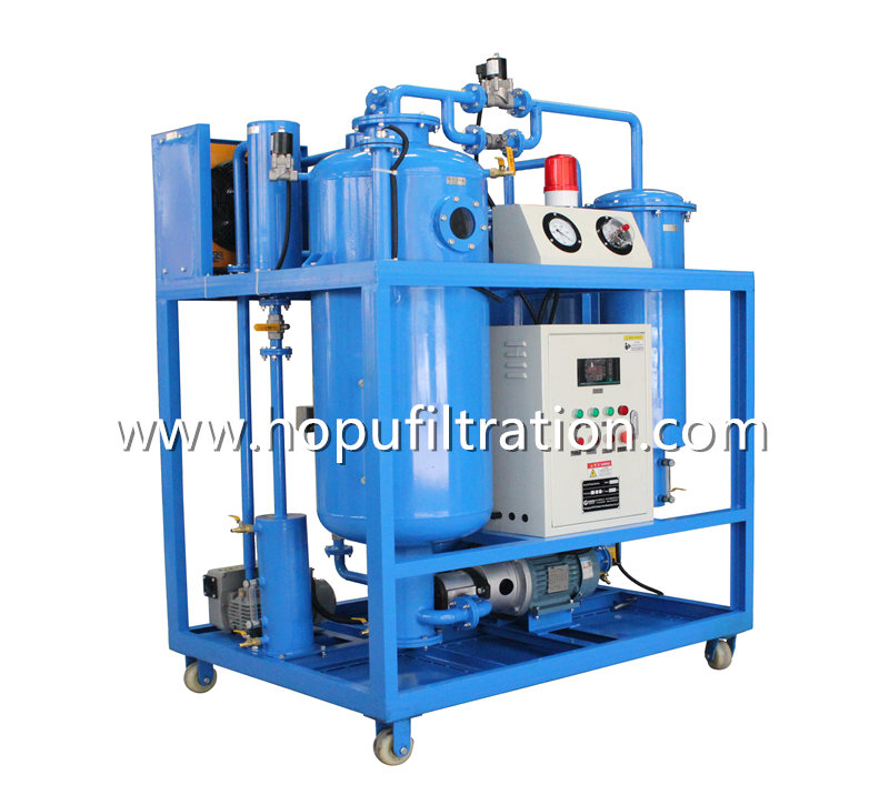 Turbine Lube Oil Purifier, Purication unit with oil spill tray sensor