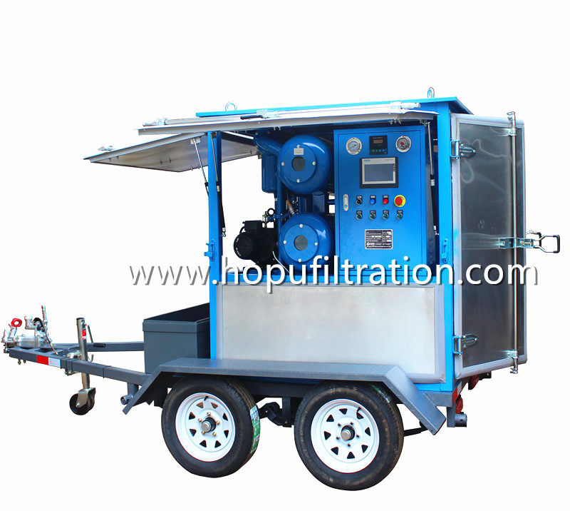 Mobile Double Axles Trailer Transformer Oil Purification Plant