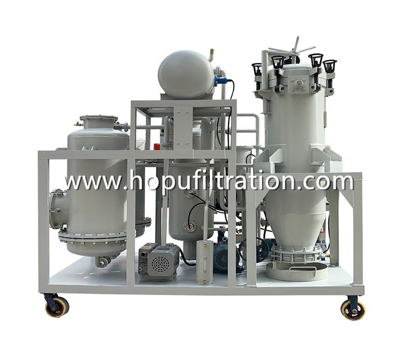 Black Hydraulic Lube Oil Decolorization and Filtration System