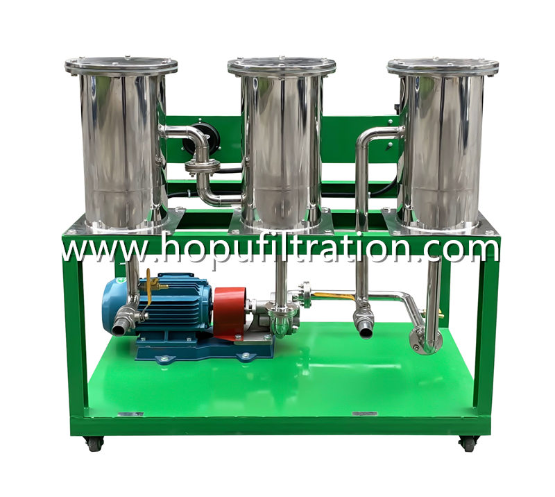 stainless steel food grade portable cooking oil purifier